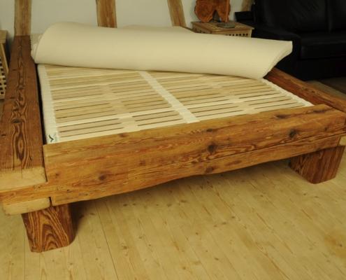 Balkenbett 14 Schreinerei Holzhandwerkstatt Schmidt